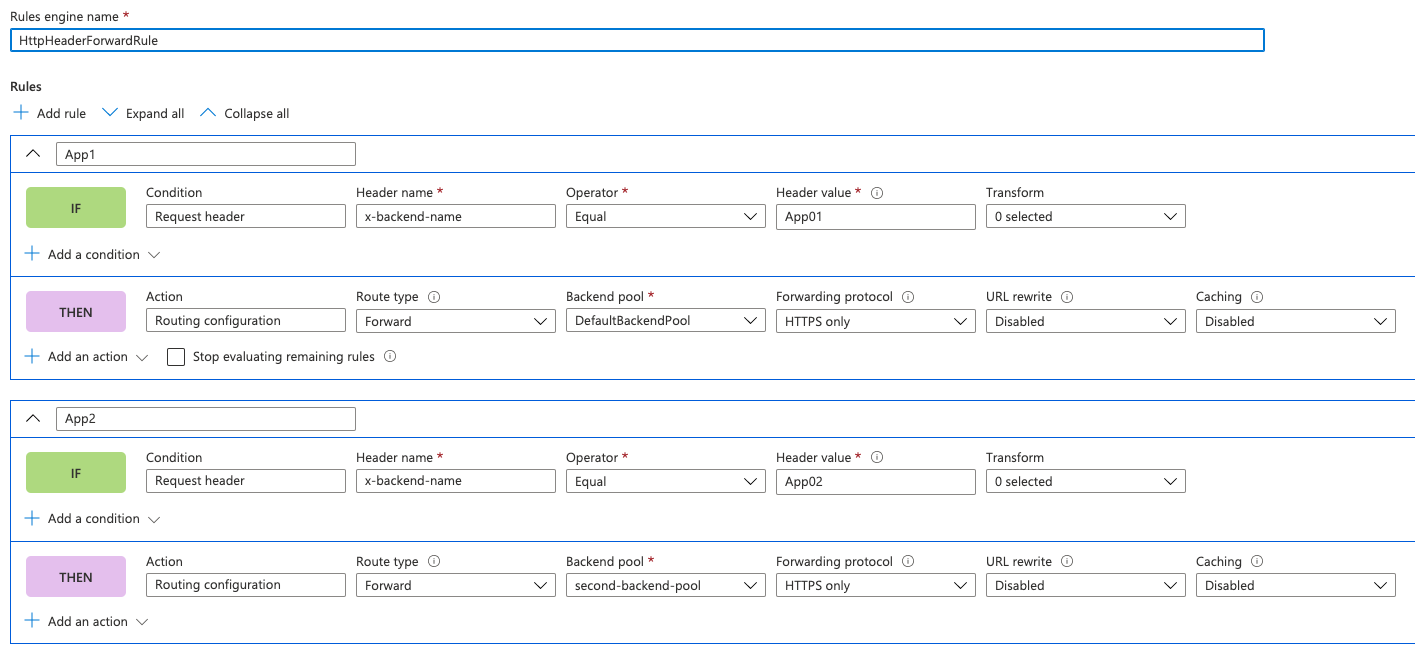 Rule Engine Configuration